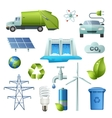 Ecology Symbols Icon Set vector image vector image