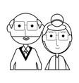 eldery couple icon vector image vector image