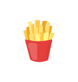 fast food french fries icon unhealthy eating vector image