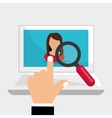 Flat about Human resources vector image