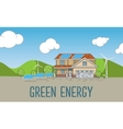 Flat Designed Banner Concept of Eco friendly house vector image vector image