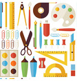 flat seamless pattern back to school objects