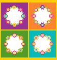 floral frame in form of circle vector image vector image