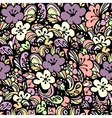 floral pattern pink vector image vector image