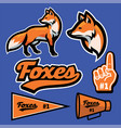fox mascot set collection in sport style vector image vector image