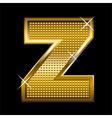 Golden font type letter Z vector image vector image