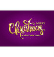 golden text on purple background vector image vector image