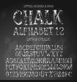 grunge latin and cyrillic alphabets vector image vector image