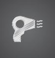 hairdryer sketch logo doodle icon vector image vector image