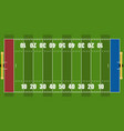 isolated aerial view of a football field vector image