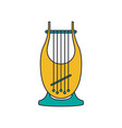 kinor harp icon cartoon style vector image vector image