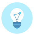 light bulb icon lamp illumination concept vector image