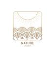 logo nature sun home vector image vector image