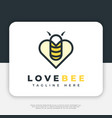 love bee logo design inspiration vector image