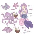 mermaid dessert underwater princess vector image vector image