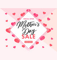 mothers day sale banner pink hearts vector image