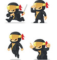 Ninja Customizable Mascot vector image vector image