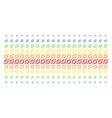 node link shape halftone spectrum pattern vector image vector image