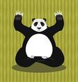 panda meditating chinese bear on background