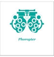 phoropter Optician vector image