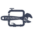 plumbing service design for vector image vector image
