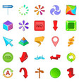 pointer icons set cartoon style vector image vector image