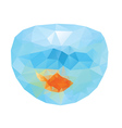 Polygonal Gold Fish2 vector image