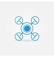 Quadrocopter blue icon vector image vector image