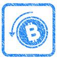refund bitcoin cash framed stamp vector image vector image