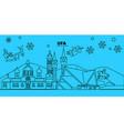 russia ufa winter holidays skyline merry vector image vector image