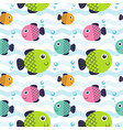 seamless pattern fish vector image vector image