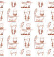 seamless pattern with cat in a top hat and a vector image vector image