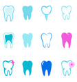 set of tooth icons stomatology design elements vector image vector image