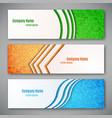 set three banners vector image