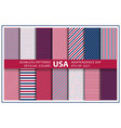 set usa background with elements american vector image