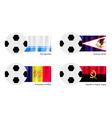 Soccer Ball of Altai American Samoa Andorra vector image vector image