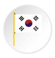 South Korea flag icon flat style vector image vector image