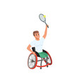 sportsman with physical disabilities playing vector image vector image