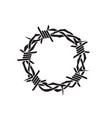 thorn crown icon vector image