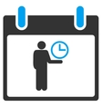 Time Manager Calendar Day Toolbar Icon vector image vector image
