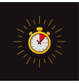timer icon on dark background fast time fast vector image vector image
