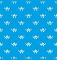 viking helmet knight pattern seamless blue vector image vector image