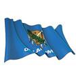 waving flag state oklahoma vector image