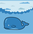 whale in cartoon style vector image vector image