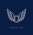 winged app vector image vector image