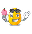with ice cream golden eggo on isolated image vector image