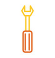 wrench tool icon vector image vector image