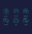 creative icons of the zodiac signs vector image