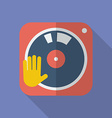 DJ turntable icon Modern Flat style with a long vector image