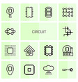 14 circuit icons vector image vector image